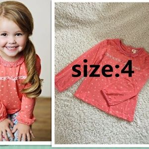 NEW Matilda Jane Coral Star Eisley Top 4Y